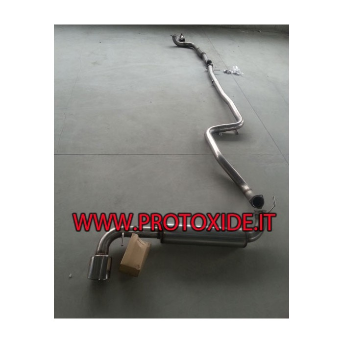 Full Lancia Delta Muffler NO KAT 70mm Complete stainless steel exhaust systems