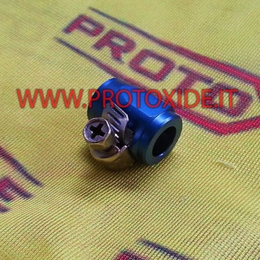 Pipe clamp with nut for aeronautical 6mm Cable ties with aeronautical nut