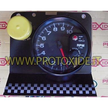 Tacómetro - grande - 10,000 vueltas con luz cambiada Tacómetro del motor y luces de cambio