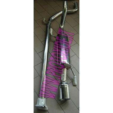 Udstødning komplet GrandePunto 1900 JTD 120-130hp Komplet rustfrit stål udstødningssystemer