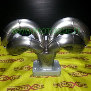 Colector de escape turbo Lancia Delta 2,000 16v posición central del corazón Colectores de acero para motores Turbo Gasoline