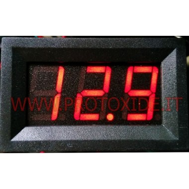 Sarkans LCD Voltmetrs 150V 4-45X27 Voltmetri un ampērmetrus
