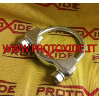 Abrazadera de cuello para silenciador de 72 mm Abrazaderas para tubos de escape y collares