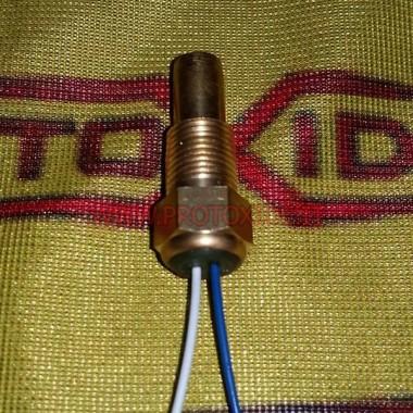 Sensor de temperatura d'aigua i oli fins a 150 graus 1-8npt 2 fils Sensors, termoparells, sondes de lambda