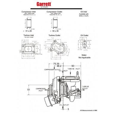 Turbocompresor en arbustos Garrett GT20 Turbocompresores sobre cojinetes de carreras