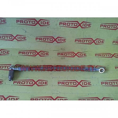 Olie rør i en metalkappe til Peugeot 207 - Minicooper 1.6 turbo Olie rør og fittings til turboladere