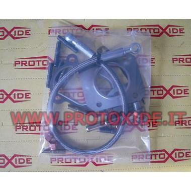 Kit tvarovky a rúrky pre GrandePunto - 500 Abarth preplňovaný Mitsubishi TD04 alebo Garrett GT2056 Olejové potrubia a armatúr...