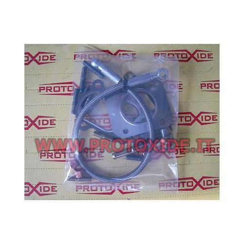 Kit de conectores y mangueras para Grandepunto - 500 abarth con Mitsubishi Td04 o Garrett GT2056 turbo Tubos de aceite y acce...