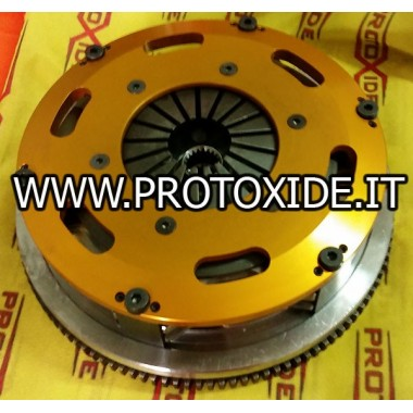 Flywheel steel kit with twin-plate clutch GrandePunto- Fiat 500 Abarth - Tjet Flywheel kit with reinforced twin-disk clutch