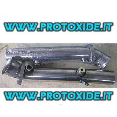 Sost. catalitici tronchetti solo tubo per Ferrari 355 Acciaio Inox Catalitici e finti catalizzatori