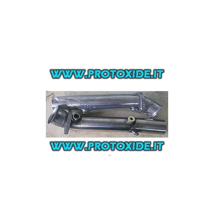 Sost. tubos catalíticos solo para acero inoxidable Ferrari 355 Catalizadores catalíticos y falsos