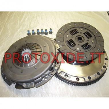 Single-masse svinghjul kobling kit forstærket skubbe Fiat Multipla JTD 120hk 186a9000 Stål svinghjul kit komplet med forstærk...