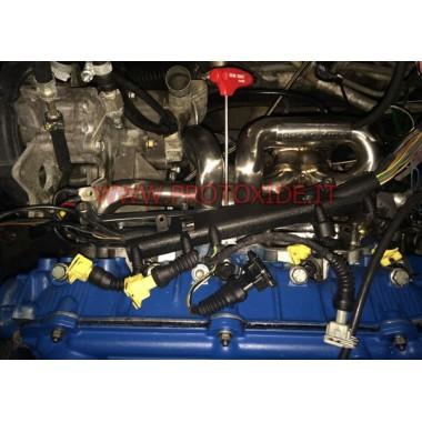 Nerūsējošā tērauda izplūdes kolektors automašīnai Fiat Uno Turbo 1.300 Tērauda kolektori Turbo Benzīna dzinējiem