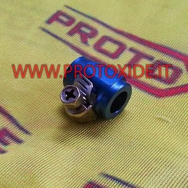 Abrazadera con tuerca aeronáutica para tubo interno de 8 mm Bridas con tuerca aeronáutica