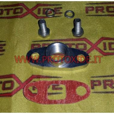 Conexión de drenaje de aceite para turbocompresores de aluminio Garrett GT40 GTX42 T3 T4 Accesorios Turbo