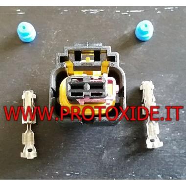 Inyector de 2 vías Bosch conector macho y Delphi Conectores eléctricos automotrices