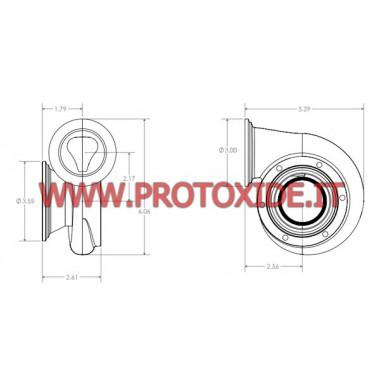 Escargot Turbo GT25 échappement en acier inoxydable