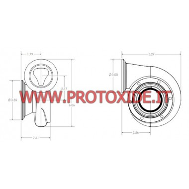 Chiocciola di scarico Turbocompressore Tial Sport GT25 acciaio Inox attacco V-band ProtoXide Chiocciole scarico turbo speciali