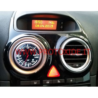 Turbo Manometer angebracht auf Opel Corsa OPC Manometer Turbo, Benzin, Öl