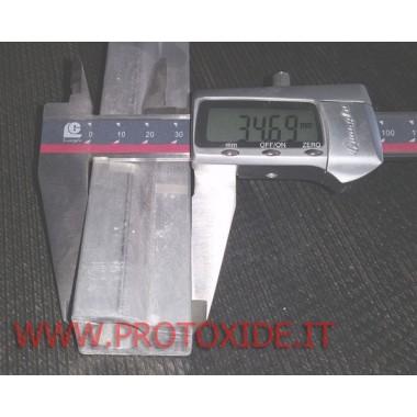 Flauto in alluminio estruso maggiorato per realizzazione rail iniettori barra estrusa Flauti maggiorati per iniettori