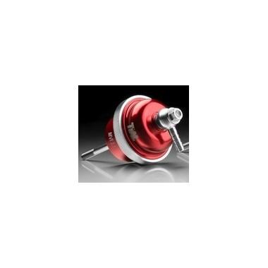 Wastegate de aluminio rojo CNC Válvula de descarga interna