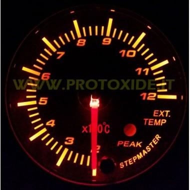 Échappement Kit de jauge de température du gaz avec 60mm de mémoire Mesures de température