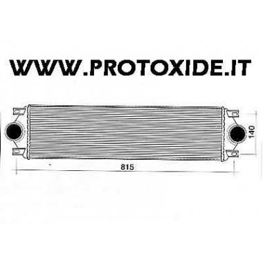 Intercooler aire-aire s'adapta. Front Punt GT Intercooler Air-Air