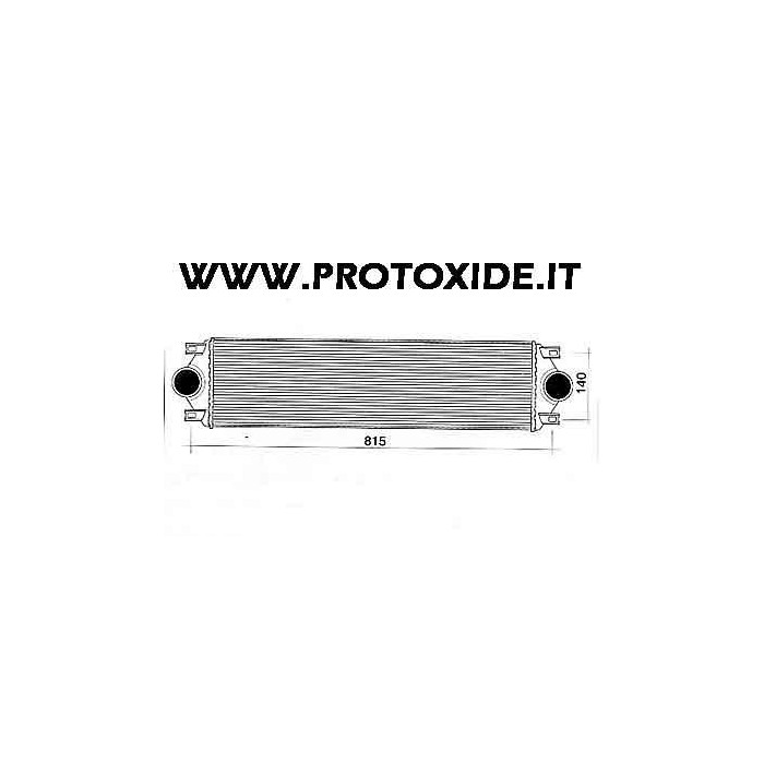 Intercooler aire-aire instalable para Fiat Punto GT Frontale Intercooler aire-aire