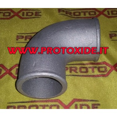 curved aluminum casting 60mm Aluminum elbow pipes