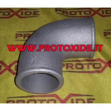 Curva de aluminio fundido de 50 mm en el exterior Curvas de aluminio