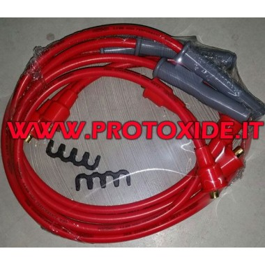 Buji kabloları Alfaromeo 75 1800 turbo kırmızı yüksek iletkenlik Otomobiller için özel mum kabloları