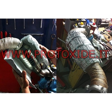 WIELKA osłona termiczna z metalicznym materiałem zabezpieczenia termicznego Bandaże i ochrona cieplna