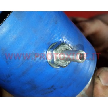 Adapter for pressure gauge with hose sleeve on