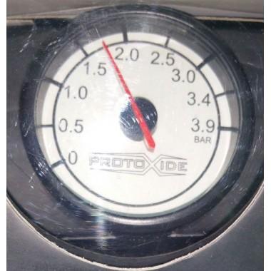 Turbo manometrs Round 60mm līdz pat 3,9 bar Spiediena mērinstrumenti Turbo, benzīns, eļļa