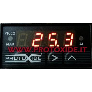 Rechteckige Ladedruckanzeige bis zu 4 bar - Compact - mit Spitzenwertspeicher max Manometer Turbo, Benzin, Öl