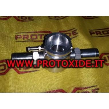 T-fitting voor intercooler te gebruiken in plaats van de tank Baden voor olie en brandstoftanks