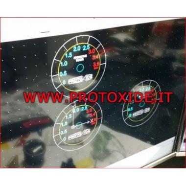 габарит Turbo налягане Кръгла шестдесетmm с до 3.9 бара Манометър Turbo, Petrol, Oil
