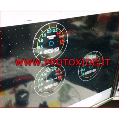 manomètre de Turbo 60mm ronde jusqu'à 3,9 bar Manomètres Turbo, Essence, Huile