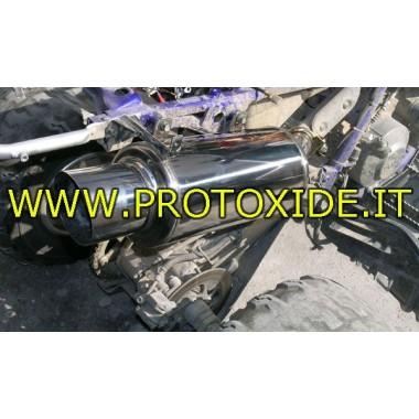 Quad tłumika sport dla Yamaha Raptor 660R - 700R stal nierdzewna