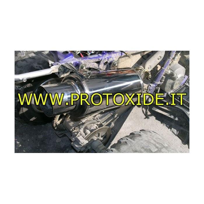Quad amortizor de zgomot de evacuare sport pentru Yamaha Raptor 660R - 700R din oțel inoxidabil Erupatoarele și terminalele d...