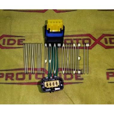 extensão rápida com conectores macho-fêmea de 4 vias Sicma Delphi Conectores da unidade de controle e cabeamento da unidade d...