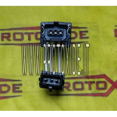 extensão rápida com conectores macho-fêmea de 3 vias Bosch Tipo 1 Conectores da unidade de controle e cabeamento da unidade d...