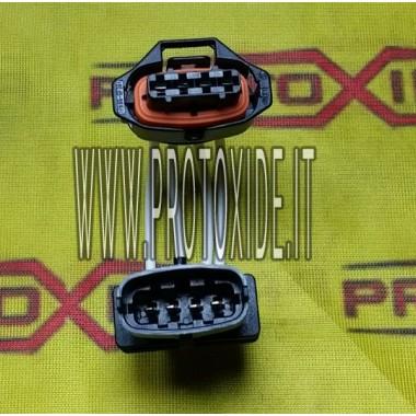 Extensão rápida com conectores macho-fêmea Bosch de 2 vias de 4 vias Conectores da unidade de controle e cabeamento da unidad...