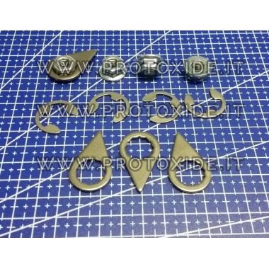 Los te draaien noten 8mm x 1,25 voor uitlaatspruitstukken en turbo's 4 stuks Noten, gevangenen en speciale bouten