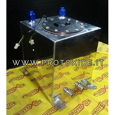 Serbatoio carburante 10 litri con tappo e sensore galleggiante livello