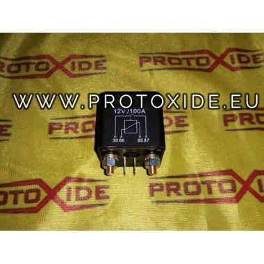 100 relejs AMP 12 voltu akumulatoru slēdzis elektronisko staccacarico Slēdži un pogas