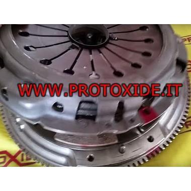Kit d'embrayage en cuivre renforcé avec volant en acier pour Fiat Coupé 2.000 20v turbo Kit volant d'inertie en acier complet...