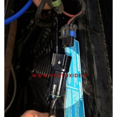 elektrisk kontakt för fläkt Lancia Delta 2000 8-16v 2-vägs Automotive elektriska kontakter