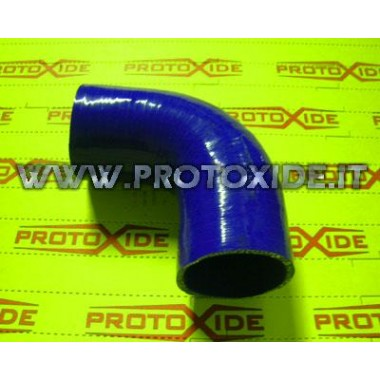 90 ° elbow silicone 25mm Reinforced silicone elbow