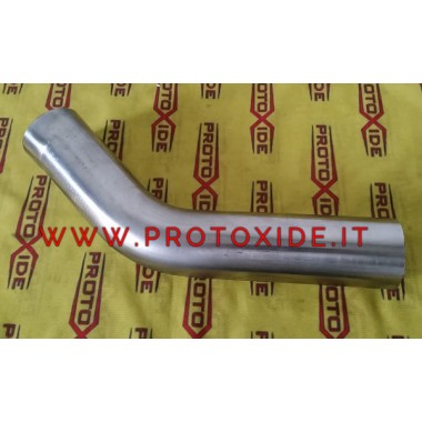 Curva in acciaio inox 45° diametro 54mm esterno spessore 1.5mm Curve in acciaio inox